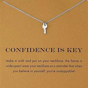 Jewelry - Confidence is Key | Silver Key Necklace